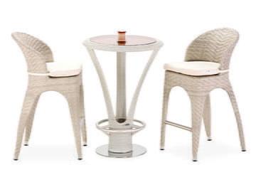 Rattan Bar Masa ve Sandalyeleri