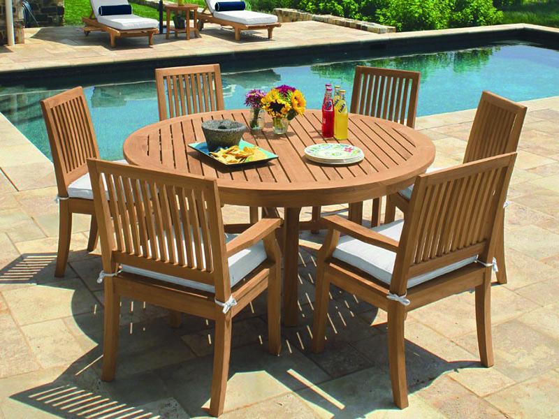 PİE Ahşap Bahçe Masası